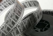 35-mm black&white movie film negative stock
