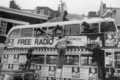 Radio North Sea International campain bus