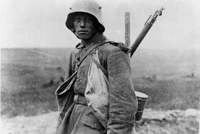 Deutscher Soldat an der Westfront