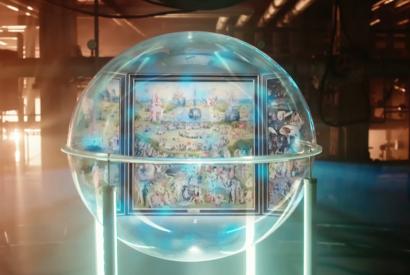 Virtuelle Kugel, die ein Gemälde umschließt