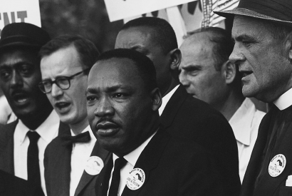 Martin Luther King Jr. during the 1963 March on Washington