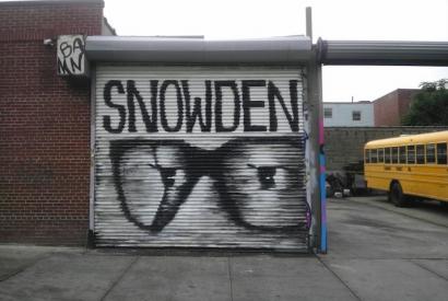 edward snowden wall mural