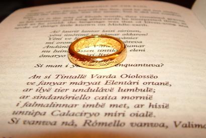 """Der Ring auf dem ersten Buch der Reihe """"Die Gefährten"""""""