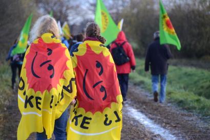 Anti-Castor-Demonstration bei Gorleben am 6. November 2010