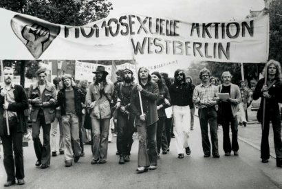 Demonstration der Homosexuellen Aktion Westberlin