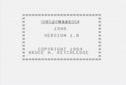 Startbildschirm von Geopolitique 1990