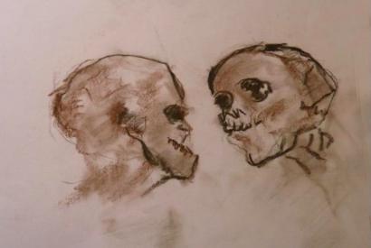 Zeichnung von Pierre Fertil, einem ehemaligen KZ-Häftling