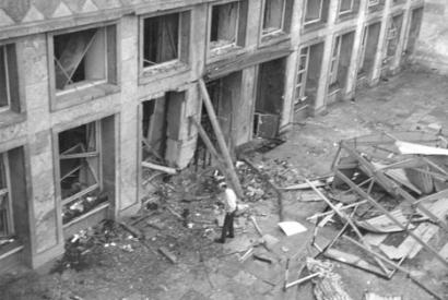 The Terrace Club behind corps headquarters in Frankfurt was bombed in May 1972 by members of the terrorits Red Army Faction