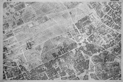 Nördlicher Teil Warschaus im Juni 1945