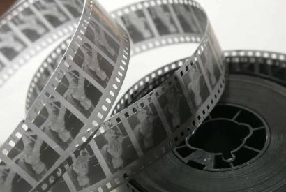 35-mm black&white movie film negative stock