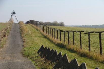 Grenzzaun nahe Cizov (Zaisa), Tschechien