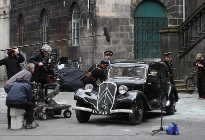Dreharbeiten zu einem historischen Fernsehfilm in Clermont-Ferrand