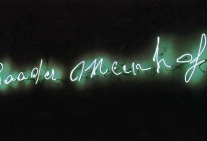 Claue Lévêque Baader-Meinhof (1993), Weiße Neonröhren