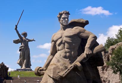 © Jacopo Romei | flickr CC BY-SA 2.0. Titel: Die Mutter-Heimat-Statue im südrussischen Wolgograd (bis 1961 Stalingrad). Aufgenommen im Aug. 2011.