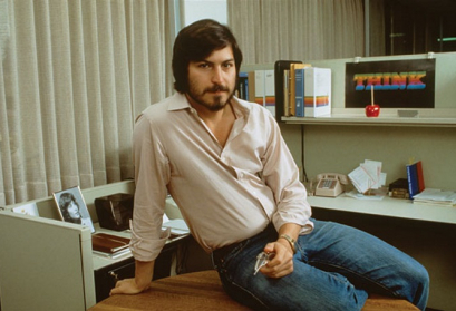 Steve Jobs in seinem Büro