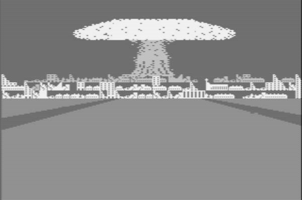 Kenrnwaffenexplosion, Screenshot aus Theatre Europe (1985)